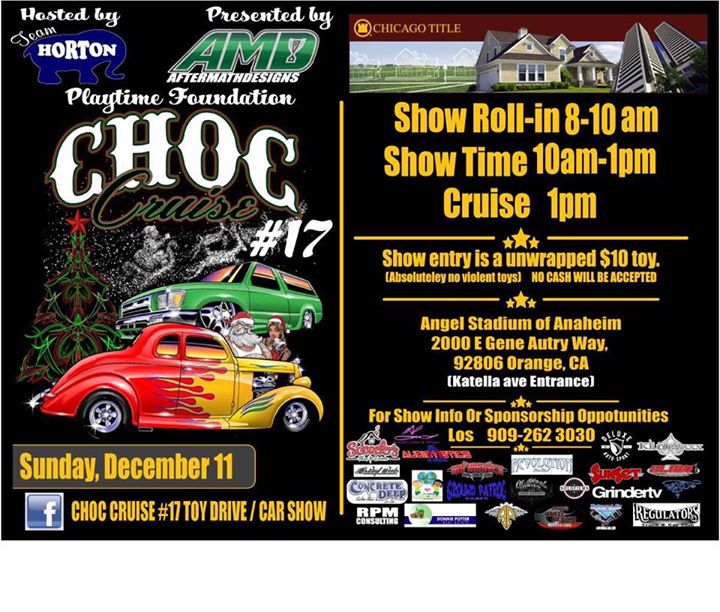 CHOC CRUISE Toy Drive Car Show At Angel Stadium Of Anaheim Orange - Angel stadium car show