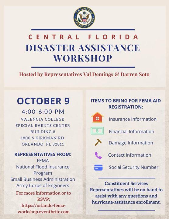 Central Florida Disaster Assistance Workshop at VALENCIA