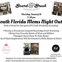 South Florida Moms Decor Sign Craft and Wine Workshop