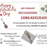 DIY Valentine Cork Keychains