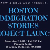 Boston Immigration Stories Project Launch