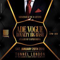 Adevogue Royalty BIG BASH...SATURDAY 20-01-18