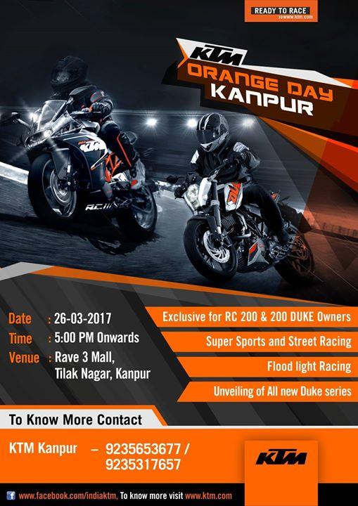 Kanpur KTM Orange Day