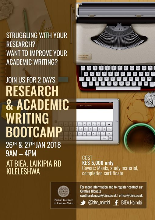 Research and Academic Writing Bootcamp