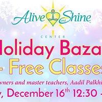 Holiday Bazaar  Free classes