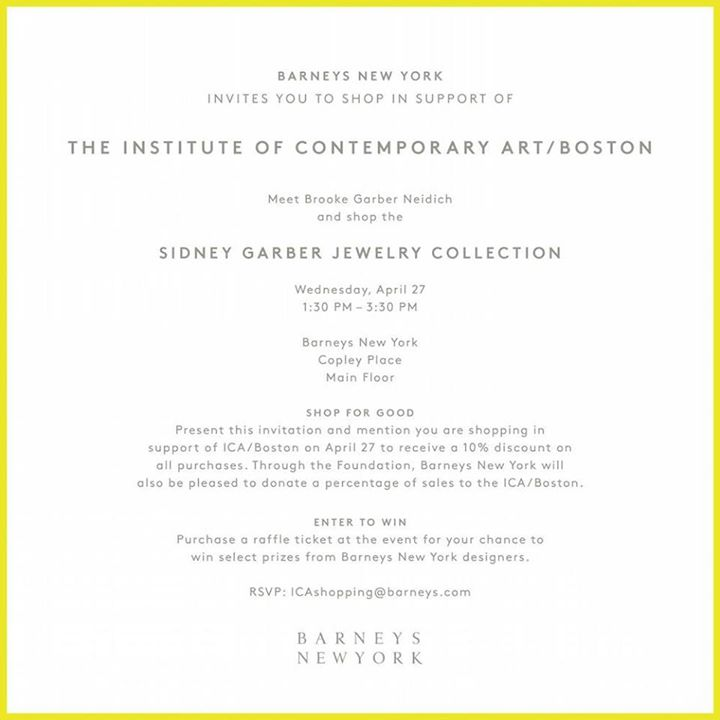 Sidney Garber Jewelry Trunk Show Personal Appearance at Barneys