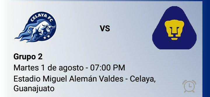 Resultado de imagen para Celaya F.C VS PUMAS