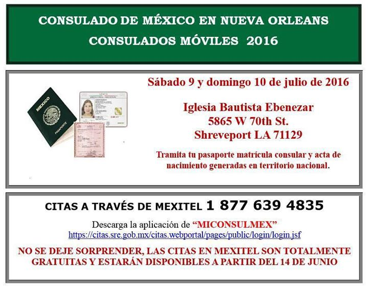 Consulado Móvil-Shreveport at 5865 W 70th St, Shreveport, LA 71129 ...