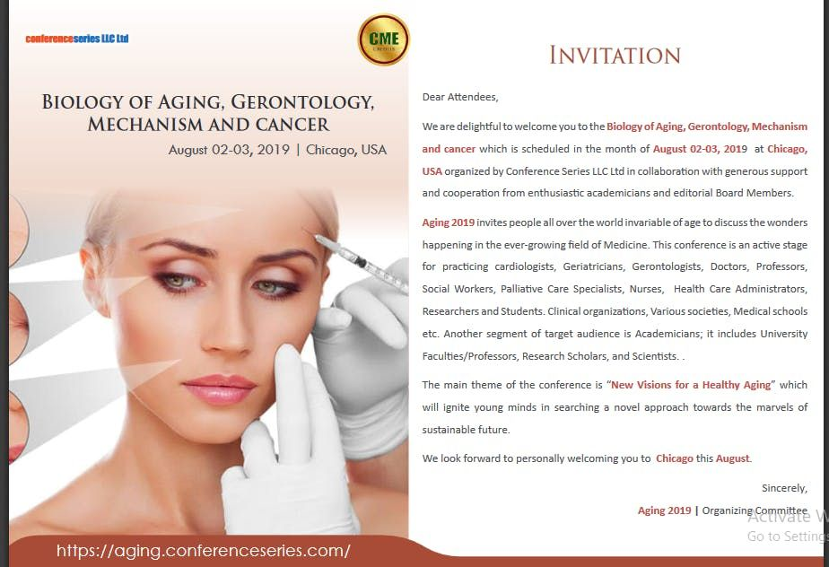 Biology of Aging, Gerontology and Cancer (CSE) | Chicago