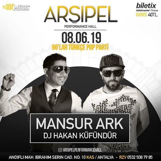 90lar Trke Pop Parti Mansur Ark DJ Hakan Kfndr