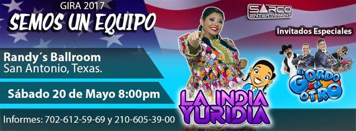 La India Yuridia - San Antonio Texas.