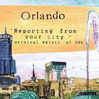1st of 10 Orlando Urban Sketch Workshops.