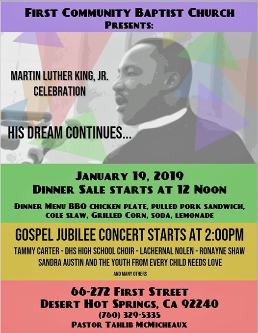 MLK Celebration at First Community Baptist Church66272 1st St