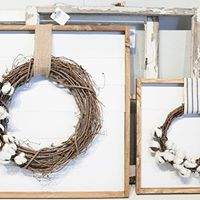 Wreath  Shiplap Wall Art Workshop