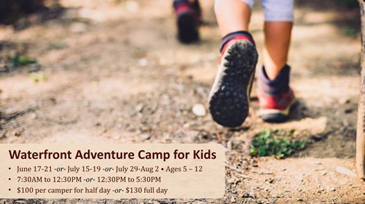 Waterfront Adventure Summer Camps for Kids Start Jul 15 at