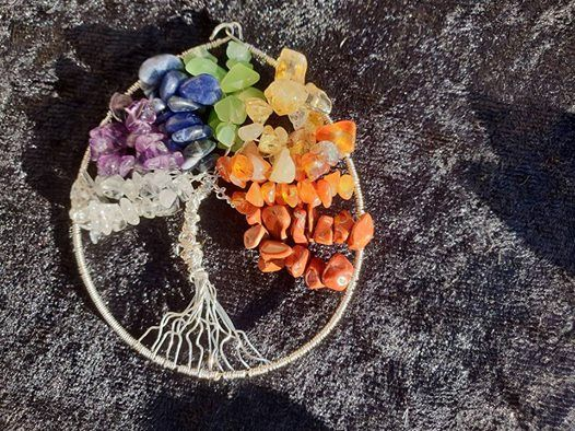 TREE of LIFE Workshop - Chakra Crystals and Silver Plate
