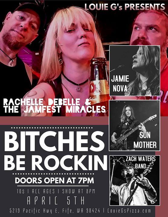 Rachelle Debelle & TJFM/Zach Waters Band/Sun Mother/Jamie Nova at
