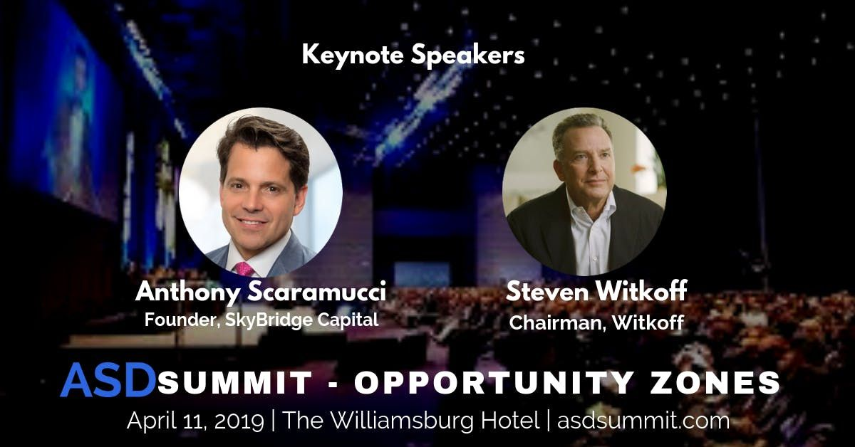ASDSummit Opportunity Zones - Real Estate Conference