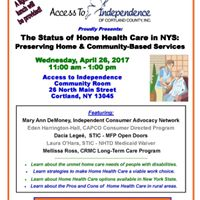 The Status of Home Health Care in NYS
