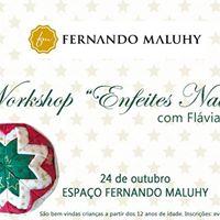 Workshop Enfeites Natalinos com a professora Flvia Ganes