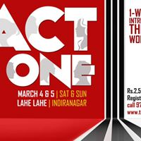 ACT ONE - 1-Weekend Theatre Workshop