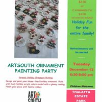 ArtSouth Ornament Painting Party