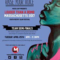 Louder than a Bmb Massachusetts Team Semi-Finals Poetry Slam