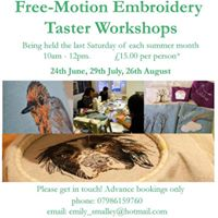 Free-Motion Embroidery Taster Workshops