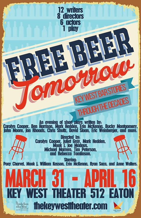 Free beer tomorrow at key west theater key west for Craft beer key west