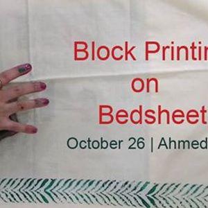 Block Printing on Bedsheet