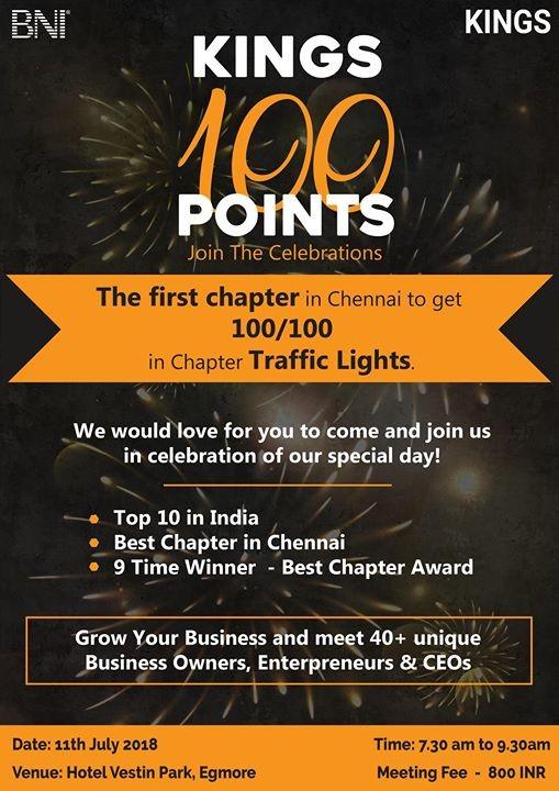 Kings 100 Points Celebration