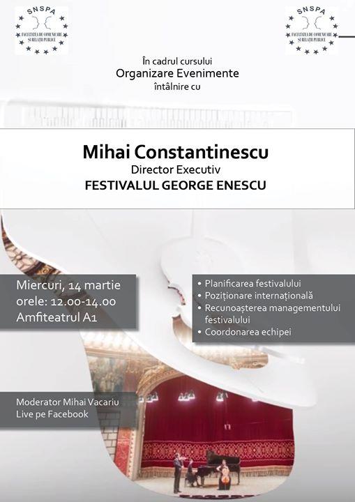 Curs Organizare De Evenimente Invitat M Constantinescu At
