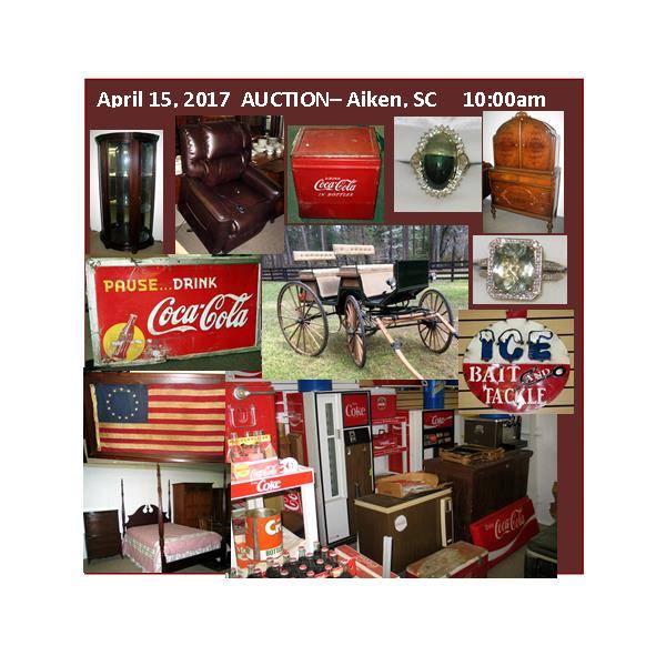 Coke, Advertising U0026 Furniture Auction In Aiken, SC