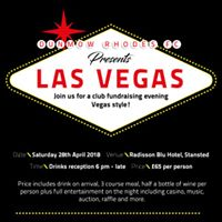 Dunmow Rhodes FC presents Las Vegas Fundraising Evening