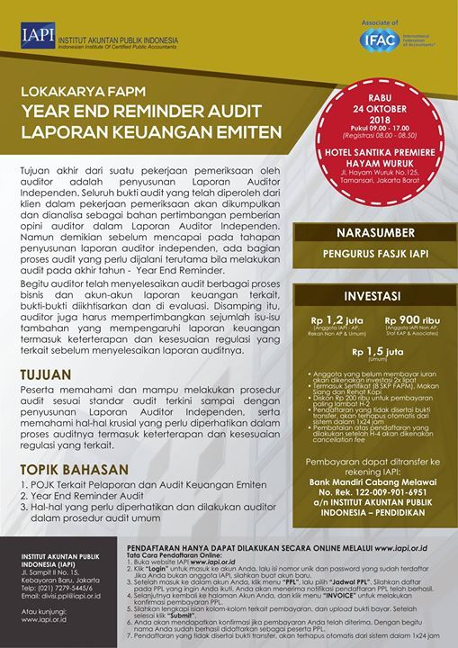 Year End Reminder Audit Laporan Keuangan Emiten