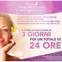 23 24 25 Maggio Corso pulizia e trattamento viso Catania Marcri