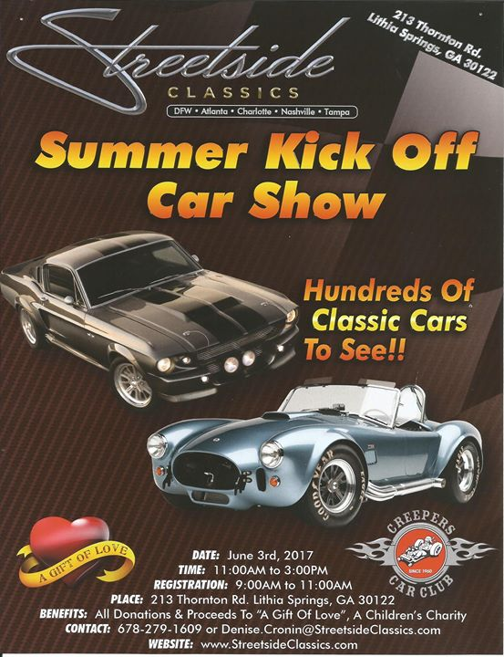 Benefit Car Show Gift Of Love At Streetside Classic Cars Lithia - Streetside classics car show