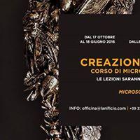 CREAZIONE DEL GIOIELLO  Corso di microscultura  Lanificio OFFICINA