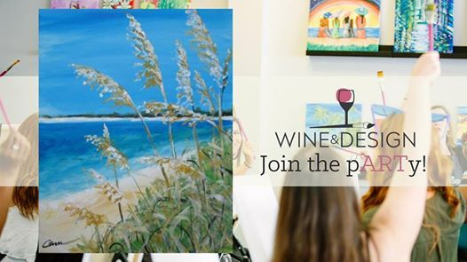 Sea Oats Byob Painting Class At Wine Design Greenville Sc1175