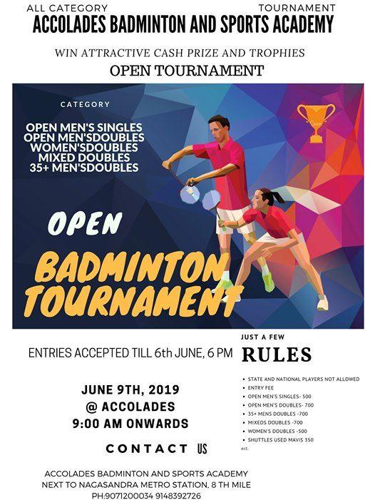 Accolades Open Tournament