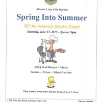 Spring into summer 70th charter celebration