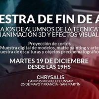 Muestra de fin de ao trabajos de alumnos  Chrysalis 2017