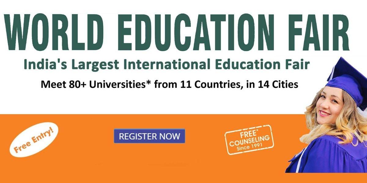 World Education Fair in Chandigarh By Edwise International. Free Entry