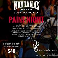 Zealous Art Paint Night Montanas