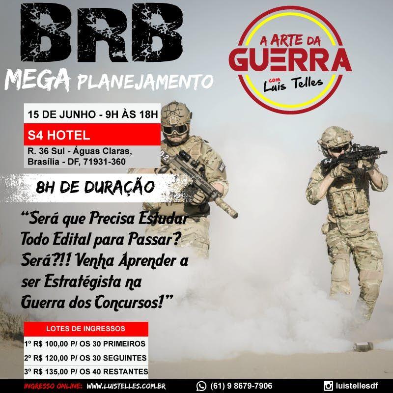 BRASLIA-DF  ARTE DA GUERRA - MEGA PLANEJAMENTO BRB