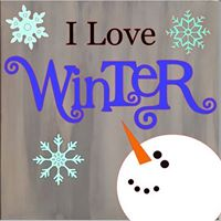 Winter theme Painted Wooden Sign Workshop