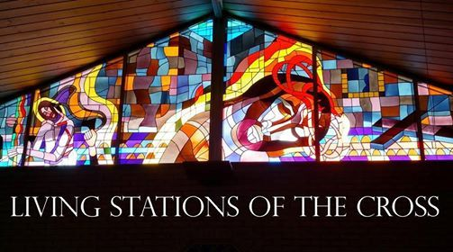 Living Stations of the Cross performance
