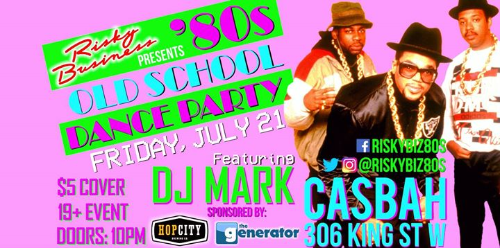 Risky Biz Presents 80s Old School Dance Party at Casbah