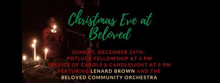 Christmas Eve Candlelight & Carols wBeloved Community Orchestra