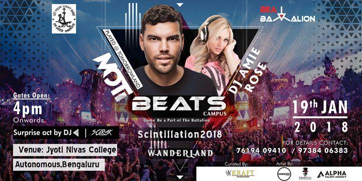 BEATS Campus ft. DJ MOTi at Wanderland -Scintillation 18